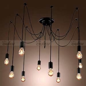 Edison style lights bulb chandelier ceiling light
