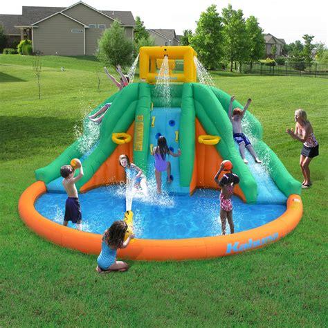 Backyard Water Park by Magic Time Peaks Splash Pool Backyard