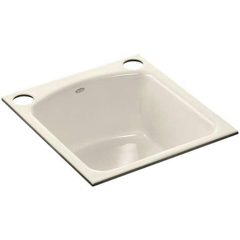 Kohler Undermount Cast Iron Sink by Kohler Napa Undermount Cast Iron 19 In 2 Hole Single Bowl