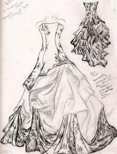 wedding dress sketch by familiarshadow on DeviantArt