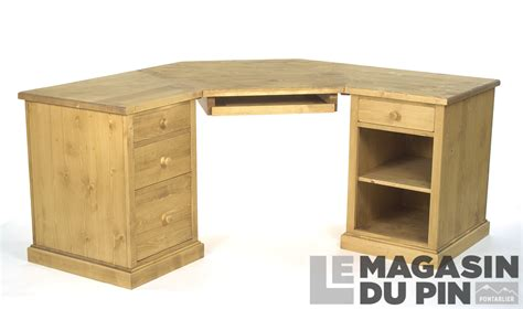 bureau dangle bureau d 39 angle en pin massif chamonix le magasin du pin