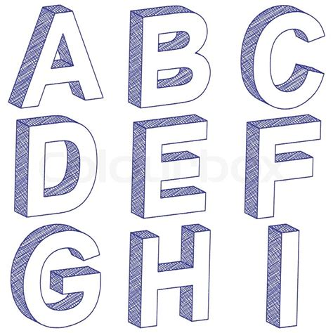 3d block letters zeichnung 3d buchstaben a i vektorgrafik colourbox 20095 | 800px COLOURBOX9722629