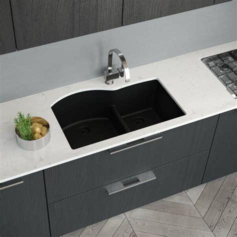 René Granite Composite 33 L X 22 W Double Basin