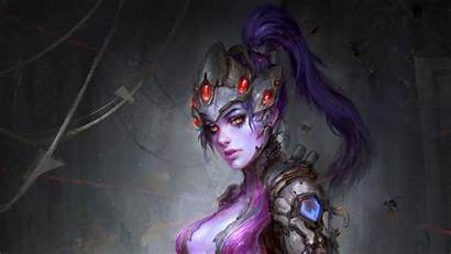 Widowmaker Overwatch Artwork Fantasy Wallpapers Backgrounds 4k