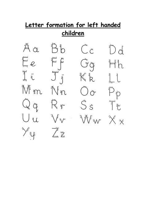 letter formation  left hand handwriting pinterest
