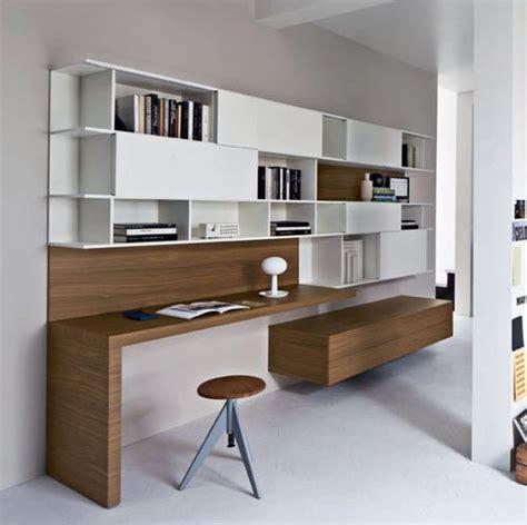 bureau en bois contemporain avec etagere bureau
