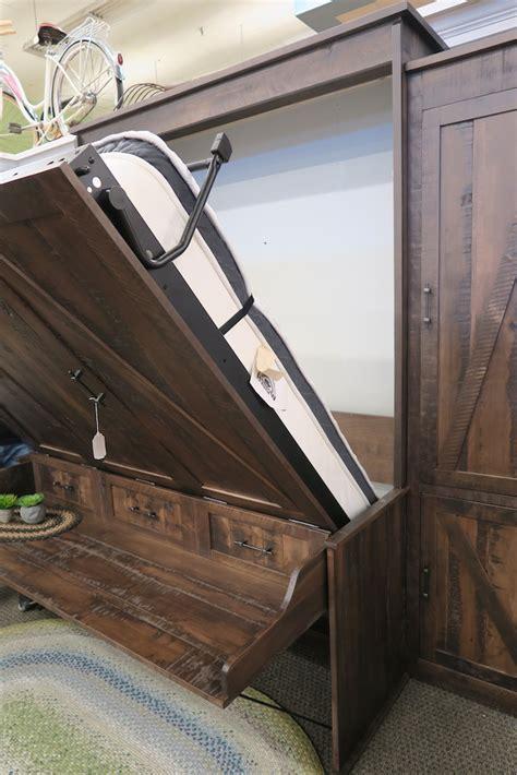 rustic desk murphy bed dutch haus custom furniture