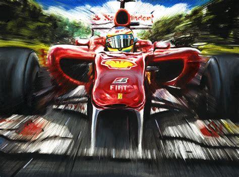 Photo art print (high quality). Fernando Alonso Ferrari F10 F1 Race Car Formula 1 Grand ...