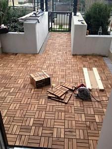 Ikea Balkon Holzfliesen : holzfliesen verlegen holzboden auf dem balkon ~ Michelbontemps.com Haus und Dekorationen