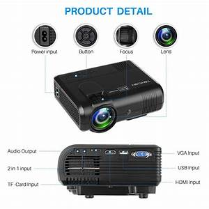Tontion 2400 Lux Video Projector 1080p Full Hd Mini Projector