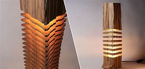 Lampe Bois Design : une superbe lampe en bois d coup e en tranches ~ Preciouscoupons.com Idées de Décoration