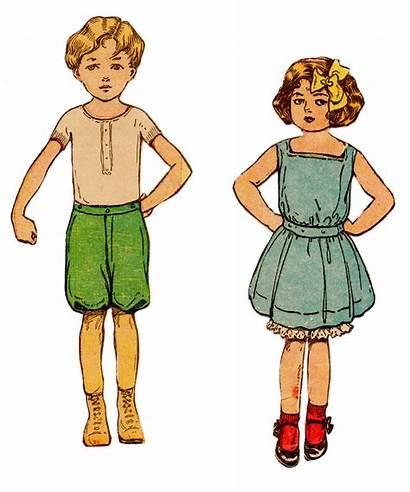 Paper Clip Clipart Clothes Summer Children Doll