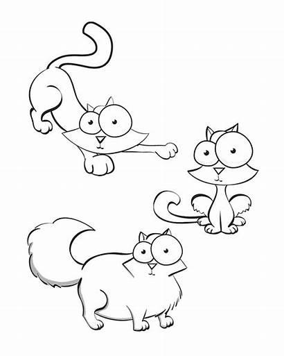 Coloring Cat Crazy Cartoon Fat Cats Clip