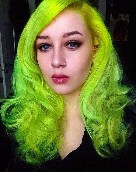 Neon Green Hair Color Neon Green Hair Green Hair Colors