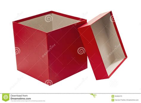 empty christmas red gift box with lid stock image image