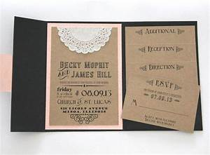 rustic wedding invitation pocket fold invitation set With rustic wedding invitations with inserts