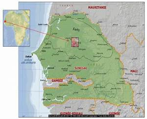 Map Of Senegal Including Its Geographical Situation On The