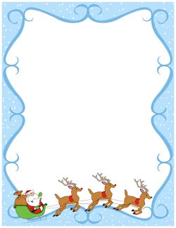 Reideer And Father Christmas Template For Windows by Reindeer Border Pinteres