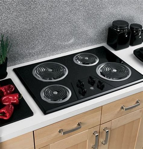 electric stove top high powered 4 four burners cooktop range oven kitchen black ebay
