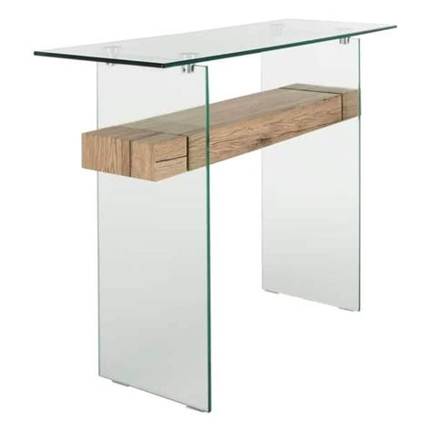"""Find the perfect home furnishings at hayneedle, where you can buy online while you explore our room designs and curated looks for tips, ideas & inspiration to help you along the way. Safavieh Kayley Natural/ Glass Console Table - 39.4"""" x 13.8"""" x 31.5"""" - Natural/Glass in 2020 ..."""