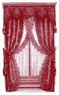 Victorian Curtains Clip Art