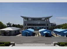 DMZ Panmunjom House Of Freedom As Seen From DPRK