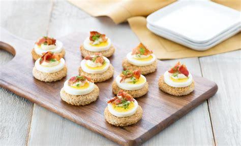 recettes canap駸 faciles canapés aux oeufs fédération des producteurs d 39 oeufs du québec