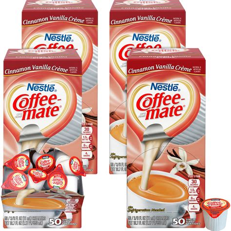 This indulgent fat free creamer is the perfect amount of flavor to wake up your coffee. Triplenet pricing   Coffee-Mate Cinnamon Vanilla Liquid Creamer - 42498CT