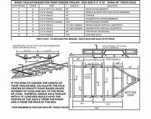 95 U0026quot  Tandem Trailer Parts Kit