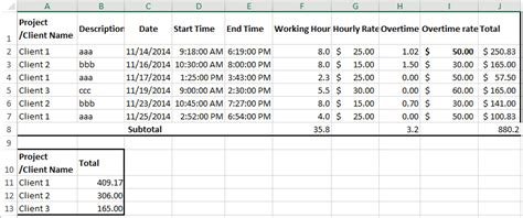 create billable hours template  excel