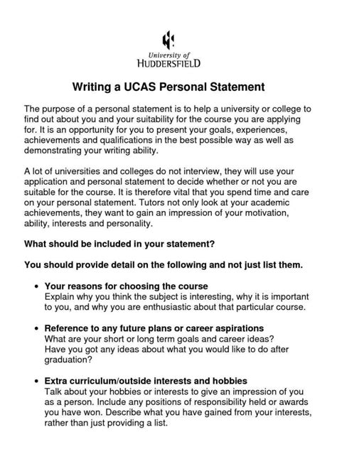 Personal Statement Template Personal Statement Of Financial Position Template