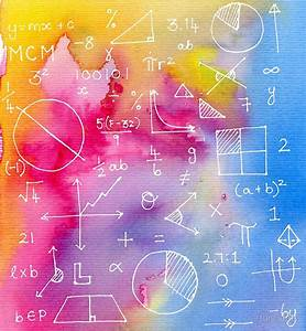"""""""Math formulae (watercolor background)"""" Framed Prints by"""