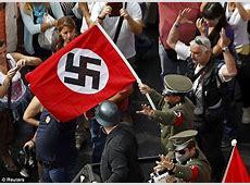 Angela Merkel Athens Protestors dress as Nazis, burn