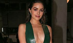 Olivia Culpo attends Mugler show for Paris Fashion Week