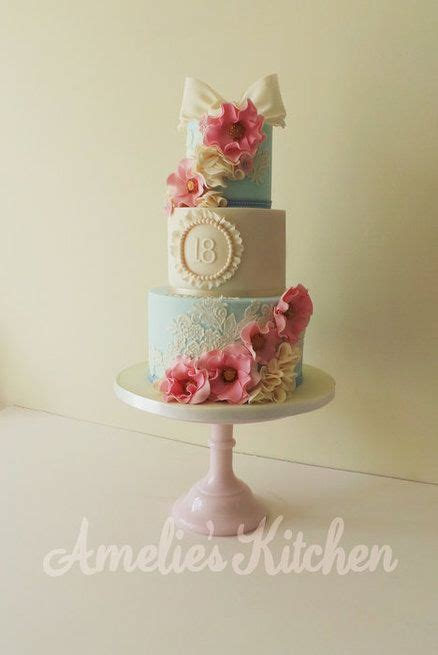 vintage style 18th birthday cake by helen ward