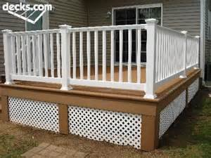 trex deck lattice skirting front porch deck ideas decks railings and lattices