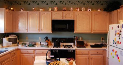 christmas decoration ideas  kitchen cabinets