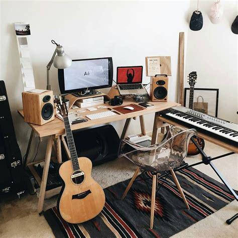 bureau studio musique cool bedroom studio workspace studio