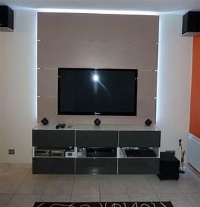 Mur Tv Ikea : 17 meilleures id es propos de tv suspendu sur pinterest d cor de t l vision mont e t l ~ Teatrodelosmanantiales.com Idées de Décoration