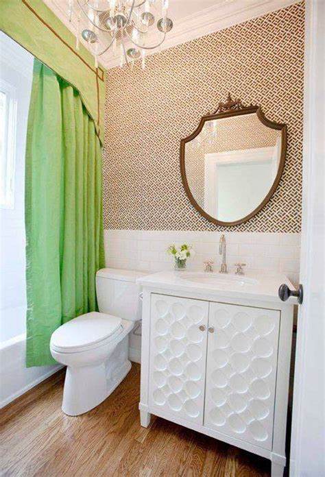 Eclectic Bathroom Designs With Wallpaper