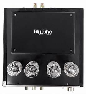Rockville Blutube Tube Amplifier 5 25 U0026quot  Black Bookshelf