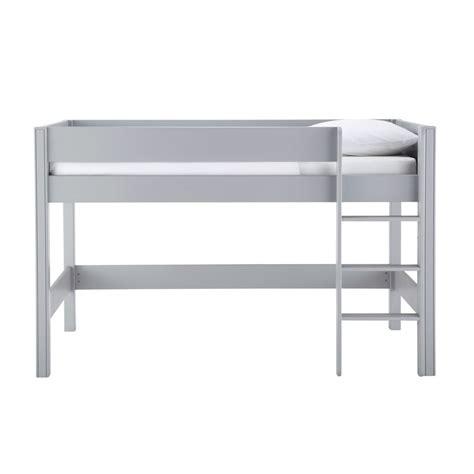 lit mezzanine enfant 90 x 190 cm en bois gris tonic