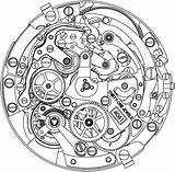 Clock Drawing Swiss Zenith Watchonista Tattoo Watches sketch template