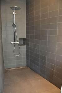 salle de bain sol gris fonce With salle de bain carrelage gris