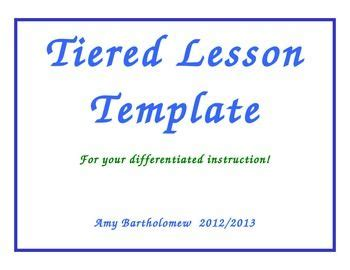 tiered planning template 1000 images about tiered lesson plans on pinterest