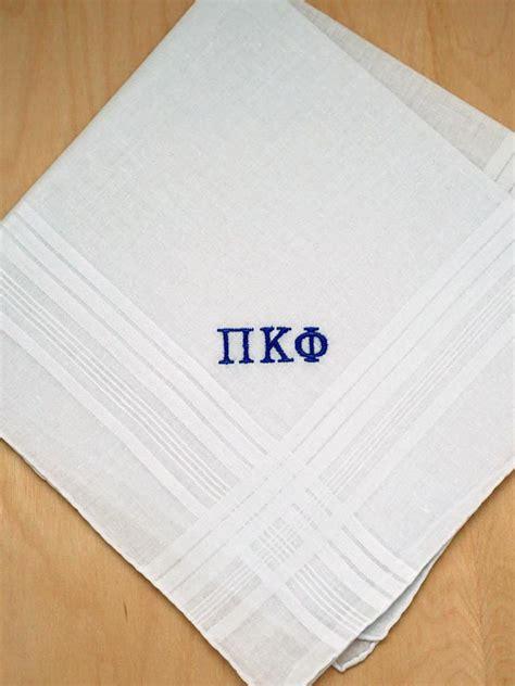 free shipping 3 mens monogrammed handkerchiefs script fraternity greek personalized mens handkerchief