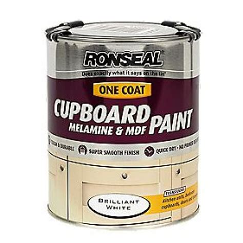 Ronseal Cupboard Paint by Ronseal Cupboard Melamine And Mdf Paint 750ml