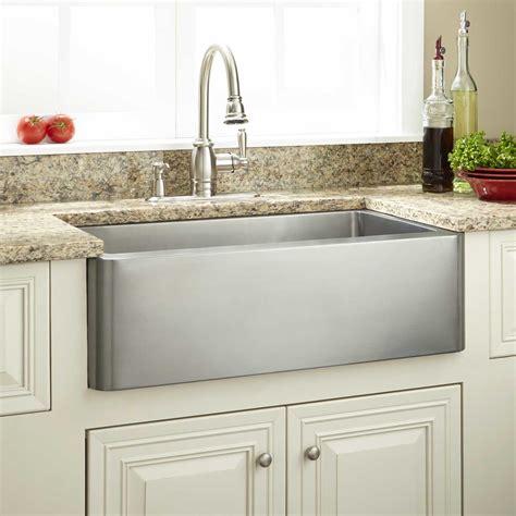 farmhouse sink stainless 27 quot hazelton stainless steel farmhouse sink kitchen