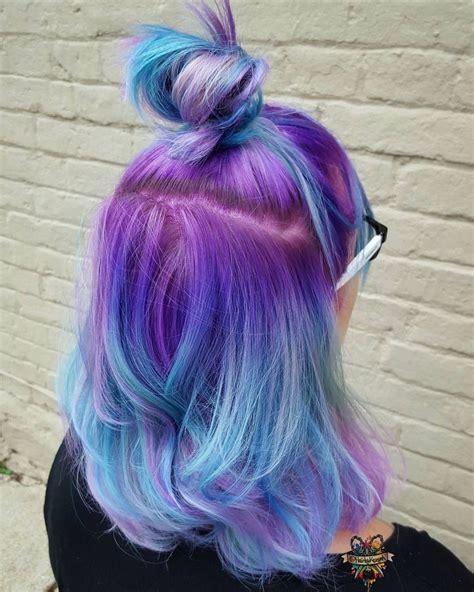 Purple Blue Ombré Hair Instagram Photo By Hairbykaseyoh