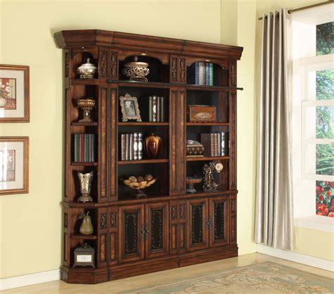 library wall units bookcase parker house leonardo library wall unit bookcase set 5 ph